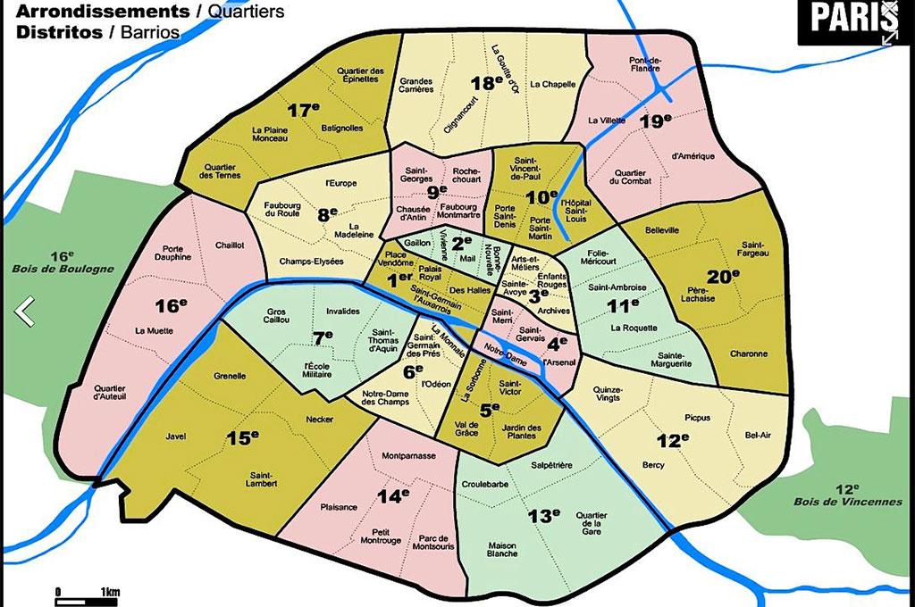Cartina Parigi Con Quartieri.Cosa Vedere A Parigi Tutti I Monumenti Storici Tripinworld